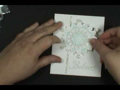 Stampin' Up! Floral Frames Snowflakes Wow!