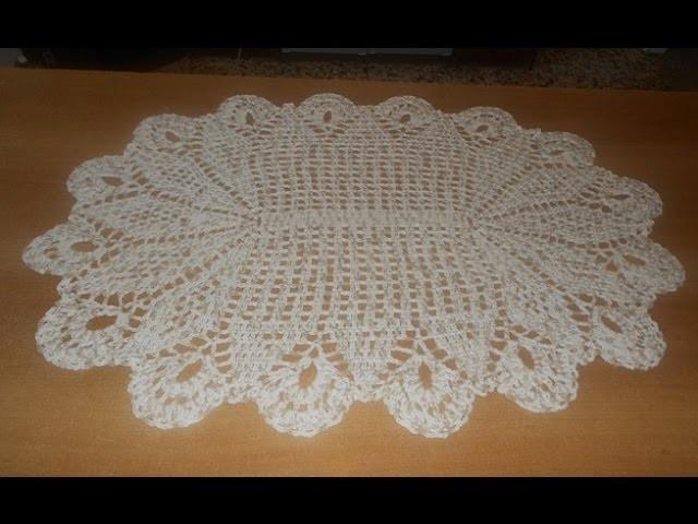 Tapete de crochê oval em barbante mesclado parte 4 - crochet rug - alfombra de ganchillo