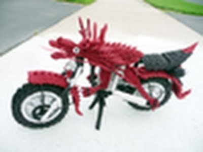 This was How I Created an Origami dragon Motorcycle, Video 1:Wheel Part