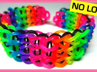 Triple Single Rainbow Loom Bracelet without Loom (on Two Forks)