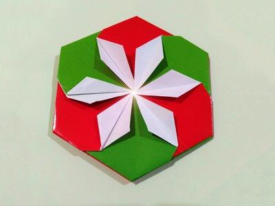 "Very easy DIY paper coaster. Hexagonal coaster origami! Tato origami"""