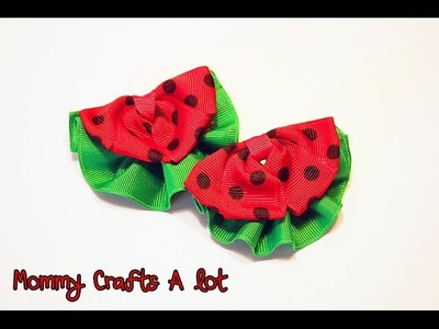 Watermelon clippie tutorial (How to make watermelon hair bow tutorial)