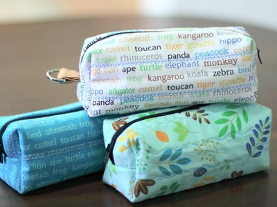 Zipper Box Pouch From Layer Cake Fabric