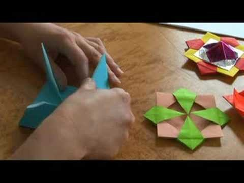 Advanced Origami Folding Instructions : The Origami Spinning Top: Part 1