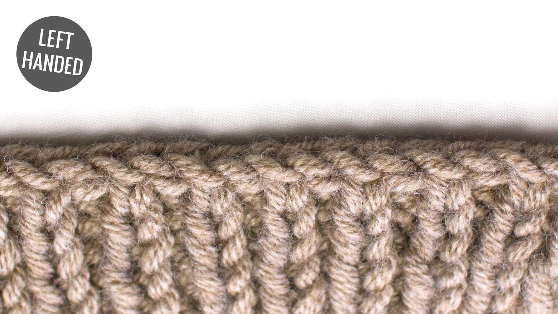 Bind Off in Pattern :: Bind Offs :: Left Handed