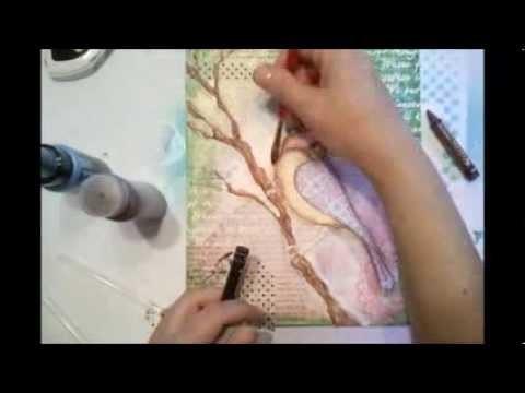 Birdie Mixed Media Canvas