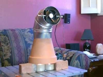 Candle Powered Heater! (Improved!!) - DIY Radiant Space Heater! (w.fan!) - Clay Pot Heater!