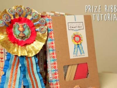 Crepe Paper Prize Ribbon Tutorial