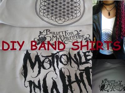 DIY Band Shirts | PierceTheLittlegirl