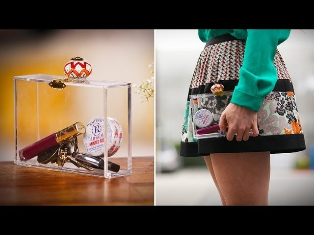 DIY Fashion | Clear Clutch Purse | Designer DIY