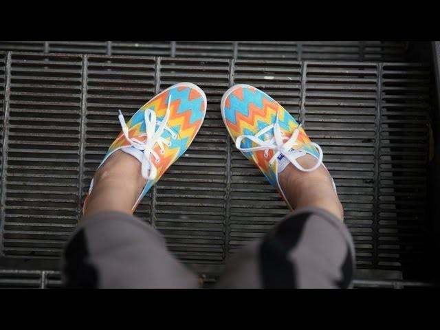 DIY Fashion | Zig Zag Chevron Print Keds Sneakers | Designer DIY