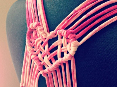 DIY macrame heart by TrashtoCouture
