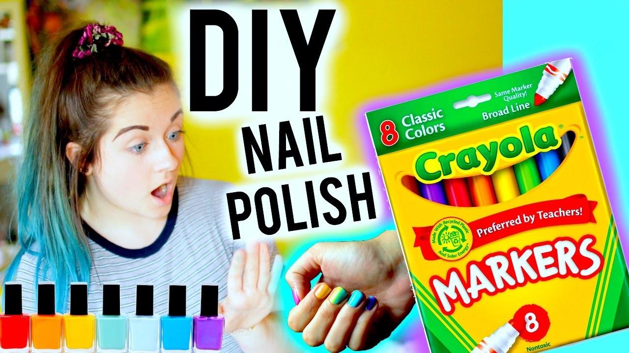 DIY: Make Nail Polish out of Markers!!