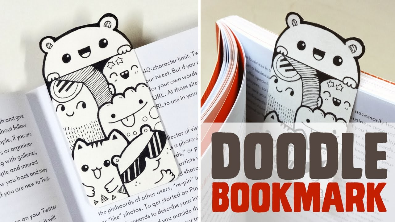 DIY ~ Mini Doodle Bookmark