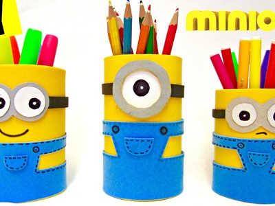 DIY Minion Pencil Holder | Back to School 2015