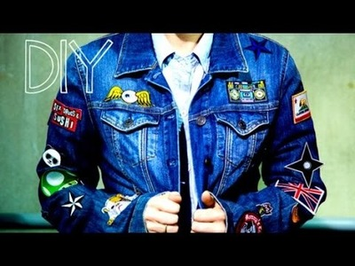 DIY Patchwork Denim Jacket Inspired by the '90s!