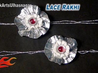 DIY Silver Lace Rakhi for Raksha Bandhan   How to make    JK Arts 599
