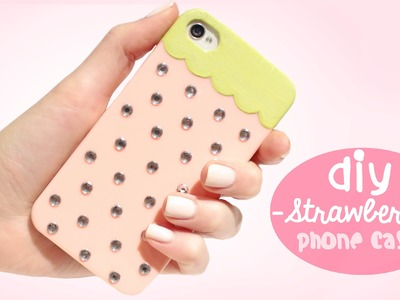DIY Strawberry Phone Case - Easy and cute!
