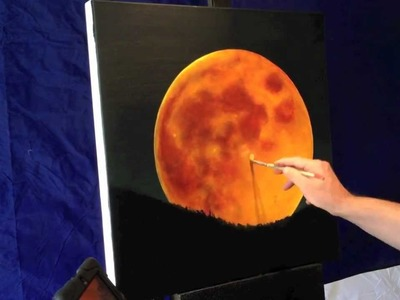Exclusive Red Full Moon Painting !
