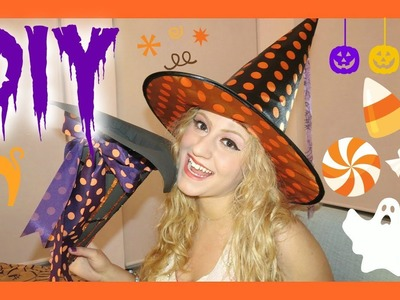 HALLOWEEN DIY Trick Or Treat Bag. Witch Hat Glam Barbie ♥