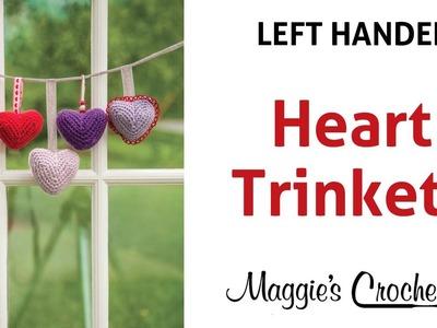 Heart Trinkets Free Crochet Pattern - Left Handed