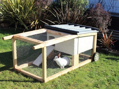 How to build a house-on-wheels for rabbits, guinea pigs & other small aniimals
