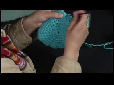 How to Crochet a Hat : Crocheting a Hat: Finishing Row 7