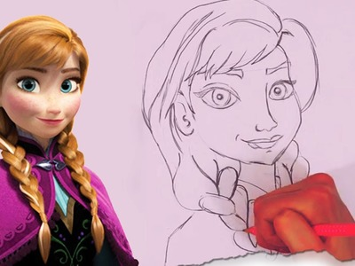 How to Draw Anna from Frozen by HooplaKidz Doodle | Drawing Tutorial