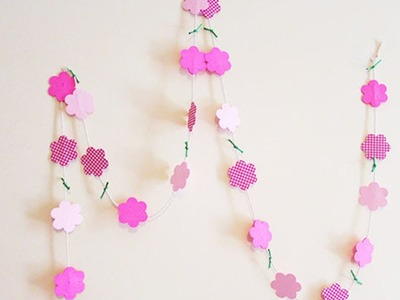 How To Make A Flower Paper Garland - DIY Home Tutorial - Guidecentral