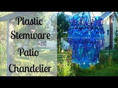 How to Make a Plastic Stemware Patio Chandelier