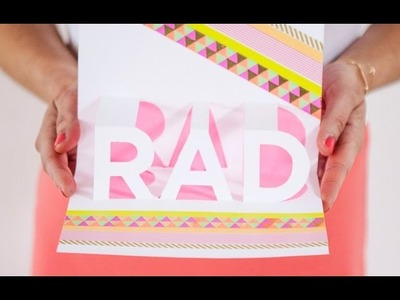How to Make a RAD Pop-Up Card!
