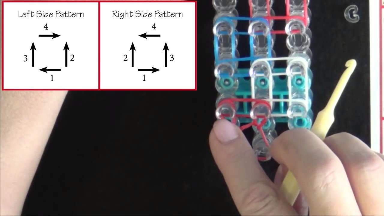 How to make a Rainbow Loom Zig Zag Bracelet