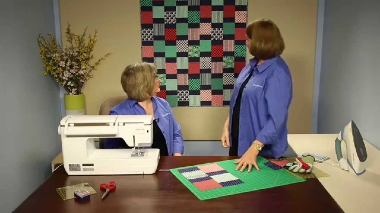 "How to Make Quilting Quickly's ""Jungle Gym:""  A Fun, Fast Baby Quilt From 5"" Squares"