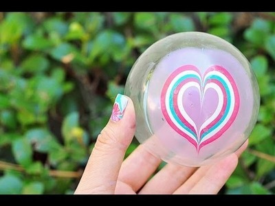 How to Water Marble a Christmas Ornament (Heart Design) Using Nail Polish