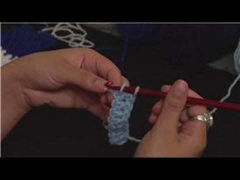 Knitting the Rib Stitch Crochet : Finishing Row 1: Rib Stitch Crochet