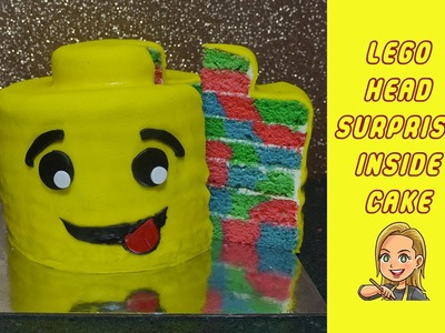 Lego Cake - Surprise Inside Cake - Lego Man Head