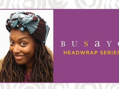 Loc Hairstyle tutorial: Newspaper scarf head wrap feat. Busayo