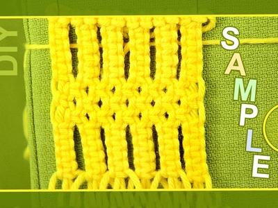 Macrame ABC - pattern sample #3
