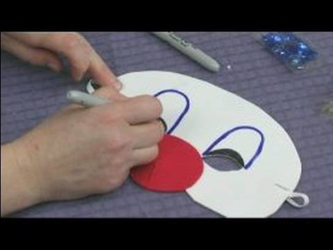 Making Foam Masks for Kid's Crafts : Drawing Clown Makeup on a Mask