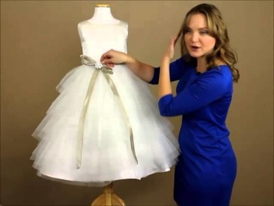 My Girl Dress.com   Dress Review: White Tulle Layered Dress with Satin Sash