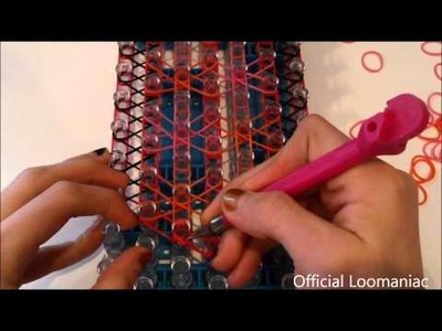 NEW! Checker Burst Bracelet on the Rainbow Loom