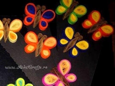 ✿ Quilling - Fluture - Tutorial 7 - AidaCrafts