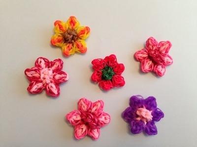 Rainbow Loom FLOWER Charm - Gomitas - Looming WithCheryl