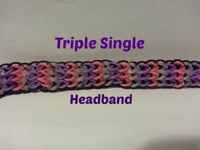 Rainbow Loom - Triple Single Headband