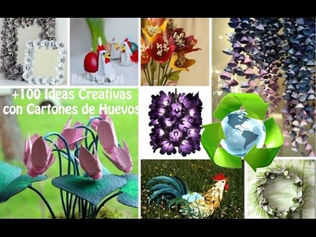 Reciclaje Cartón Huevos +100 Ideas. Recycling egg cartons +100 Ideas