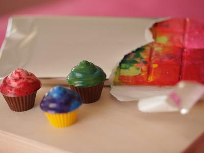 Robert's Crayon Cupcakes and Candy Bars