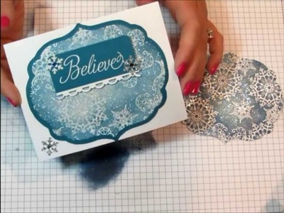 Sparkling Snowflake Christmas Card Tutorial