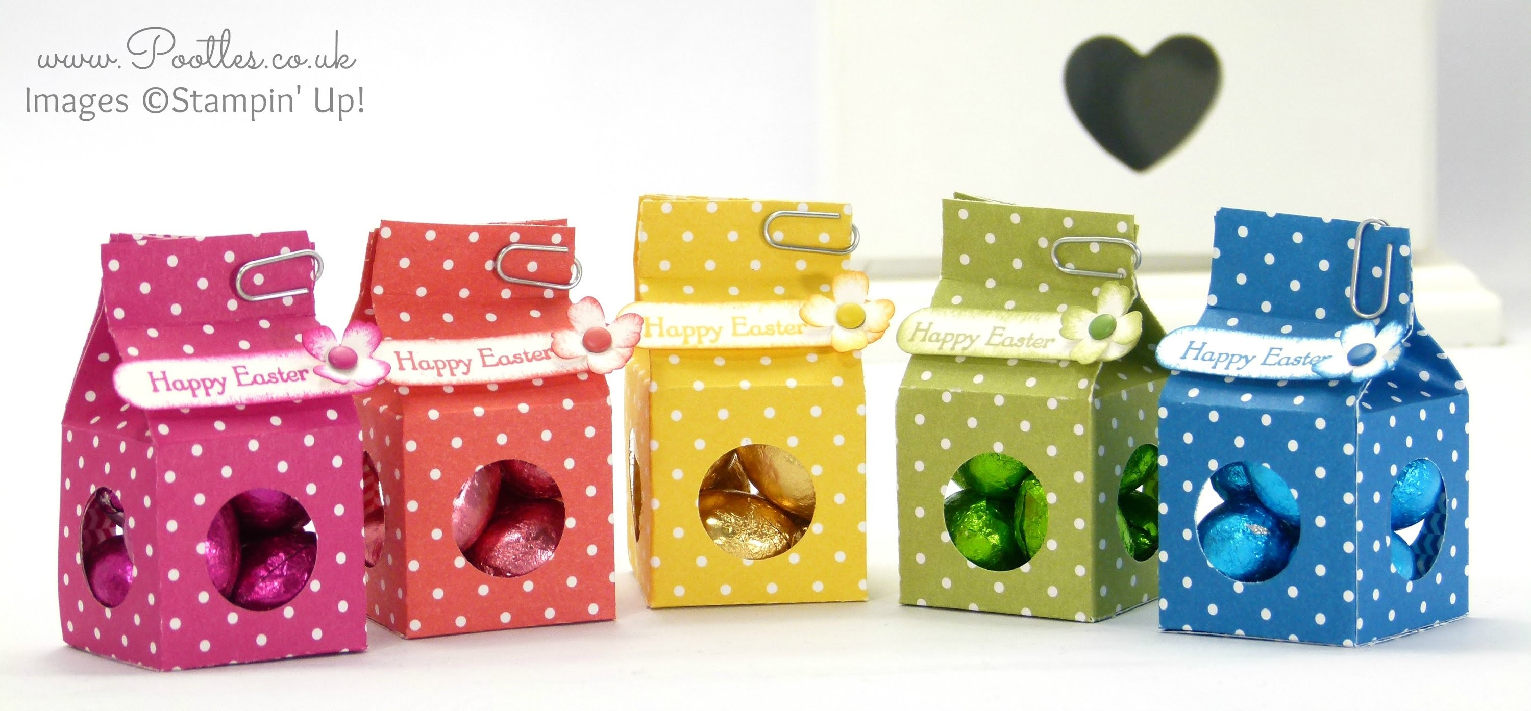 Tiny Milk Carton Easter Egg Boxes