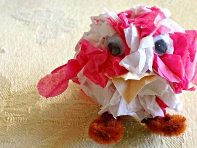 Tissue Paper Crafts: Fun Mini Bird! PART 1