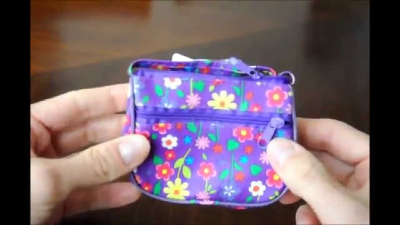 Vinyl Purse Handbag For Girls With Flowers - sold by FRILL SHOP LTD